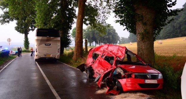 06-07-2018 - Libramont - Chevigny - Un Libramontois perd la vie dans une collision avec un bus au Grand-Duché.