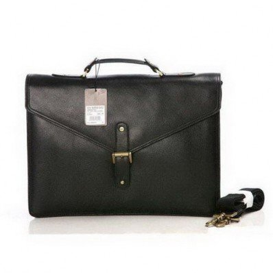Perfect Mulberry Lucian Briefcase Black Natural Leather On Sale