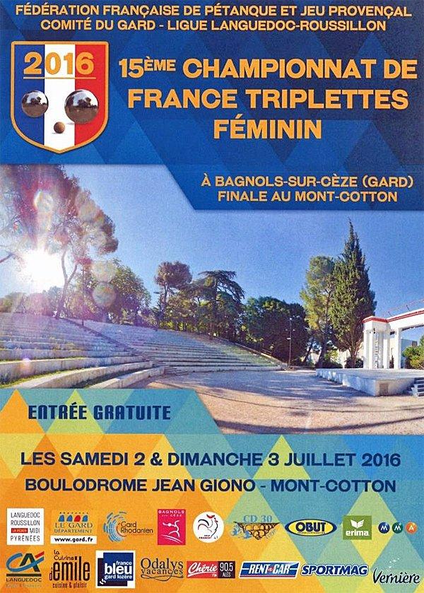 Direct WebTV : Bagnols-sur-Cèze enchaine avec les féminines - Championnats de France - ARTICLES sur la pétanque