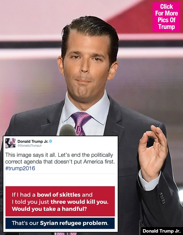 Donald Trump Jr. Compares Syrian Refugees To Poisoned Skittles & Twitter Freaks Out