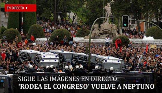 Directo | La protesta del 25-S regresa por tercera vez al Congreso