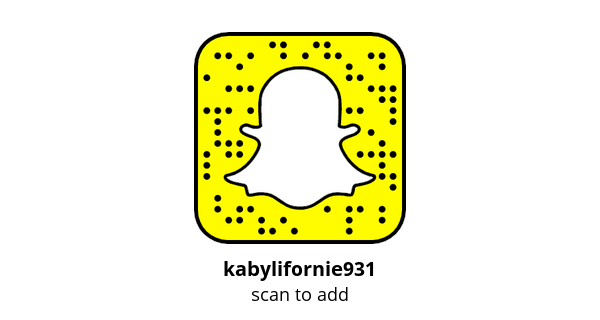 Add me on Snapchat! Username: kabylifornie931