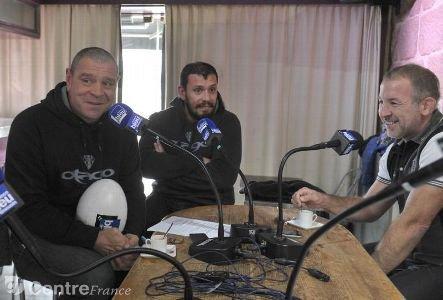 Les trois entraîneurs corréziens étaient les invités Bleu, Blanc, Noir de France Bleu, hier
