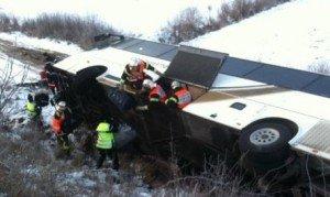 Il se rendait au ski à Gérardmer : Un bus de 42 personnes se couche à Nomexy sur la RN 57