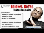 Colonel Reyel - Toutes les nuits - Paroles (officiel) ou sa lol