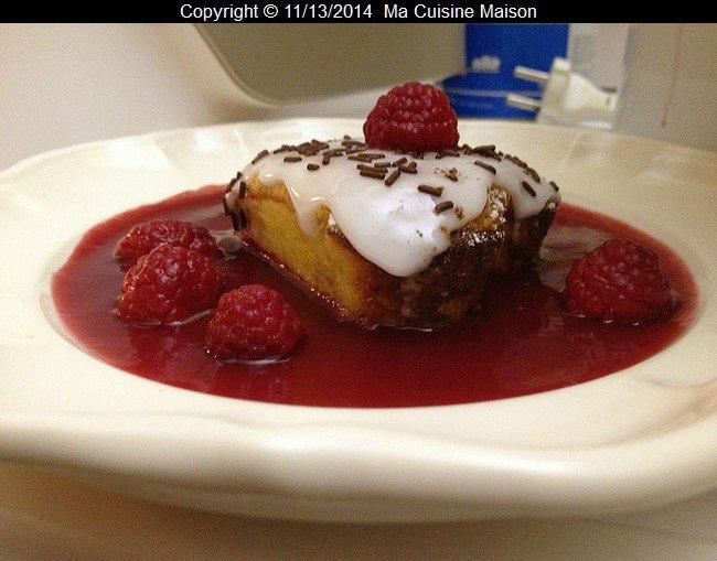 COEUR FONDANT CHOCOLAT BLANC FRAMBOISE (recette adaptée de tupperware) - Ma Cuisine Maison