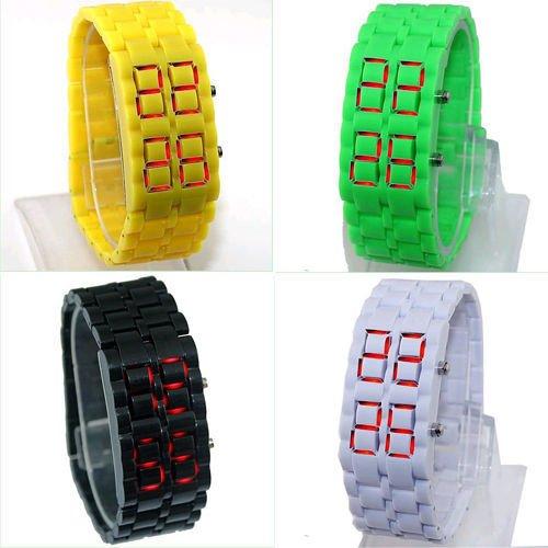 Free shipping ! LED Digital Samurai Lava Wrist Watch