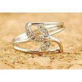 Bague femme, argent, diamant, motif sur PriceMinister
