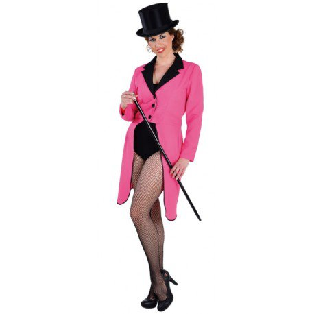 Déguisement queue de pie fuchsia femme luxe achat queue de pie cabaret