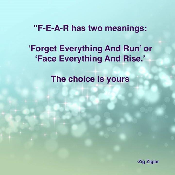 FEAR.....