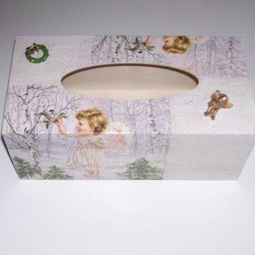 Boîte à mouchoirs ange