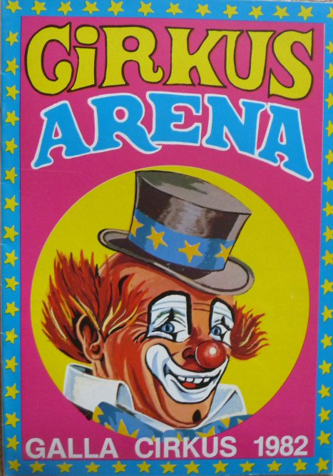 Programme cirkus ARENA 1982