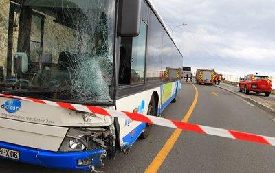 Collision mortelle entre un bus et une voiture sur la moyenne corniche