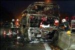 Autocar en feu à Hensies : 11 morts