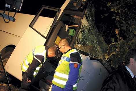 Accident de car à Bonneville-la-Louvet (14): le chauffeur blessé - Bonneville-la-Louvet - Faits - ouest-france.fr