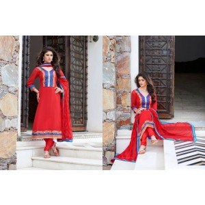 Admirable maroon color dress material of salwar kameej and dupatta