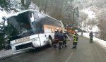 Bus bloqué dans le fossé : pertubations sur la route entre Laruns et Gourette - LaRépubliquedesPyrénées