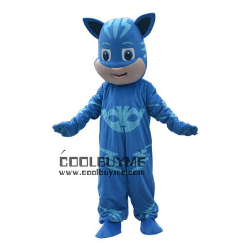 Blue PJ mask Cartoon Character Mascot Costume For Adult Fancy Dress Halloween Party