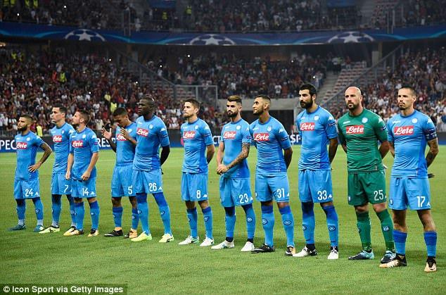 Pertandingan Copa Italia, antara Napoli melawan Atalanta 1–