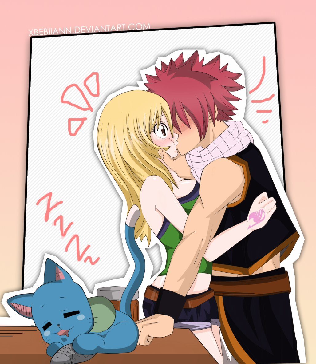 (Fairy Tail) Chuuuuu~ Nalu by ~xBebiiAnn on deviantART