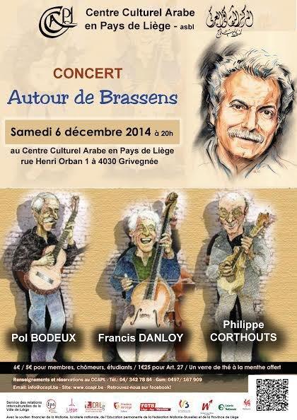 Liège : conférence et concert autour de Brassens le 6 décembre 2014 - Last night in Orient
