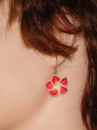Boucle d'oreille fleur en fimo Argent 925 : Boucles d'oreille par jl-bijoux-creation