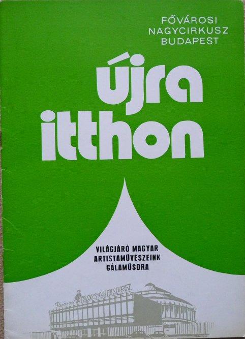 Programme FOVAROSI NAGYCIRKUSZ - UJRA ITTHON - 1974
