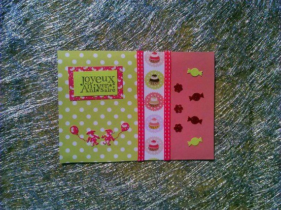 carte joyeux anniversaire gourmandise cupcake : Cartes par del-crea-fete