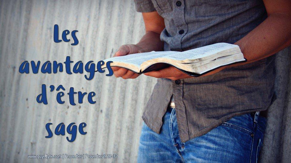 Les avantagesd'être sage — 23.09.18 | Guy et Lyne - Passion & Inspiration