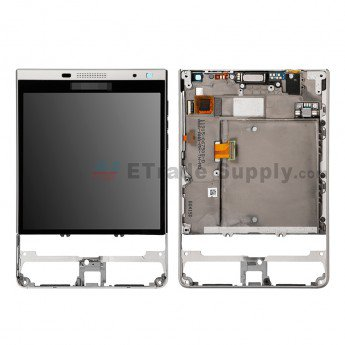 BlackBerry Passport Silver Edition LCD Assembly with Frame Silver - ETrade Supply