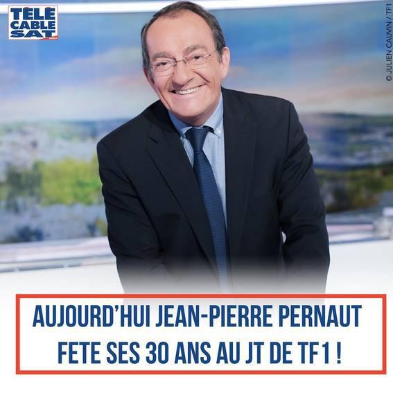 JEAN PIERRE PERNAUT FETE SES 30 ANS AU JT DE TF1