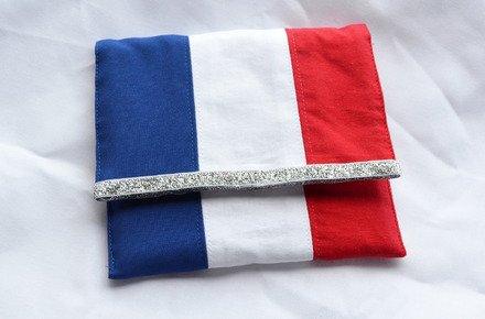 pochette theme football aux couleurs de la france : Sacs à main par abcreations