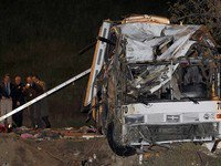 8 dead, 38 injured as tour bus crashes in Calif.