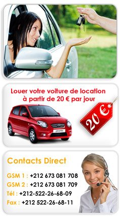 location de voiture pas cher au maroc