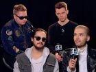 """Vidéo MTV.com : la formule de Tokio Hotel pour """"tout ressentir"""": c'est l'after-party."""""""
