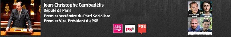 Le face à face Cambadélis / Le Pen sur l'Europe , débat sur Europe 1