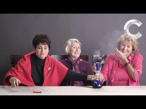 Grandmas smoking weed