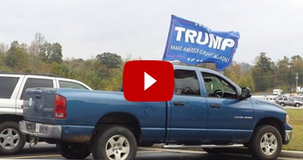 MULTIPLE SHOTS FIRED AT TRUCK DISPLAYING 'MAKE AMERICA GREAT AGAIN' FLAG [VIDEO]