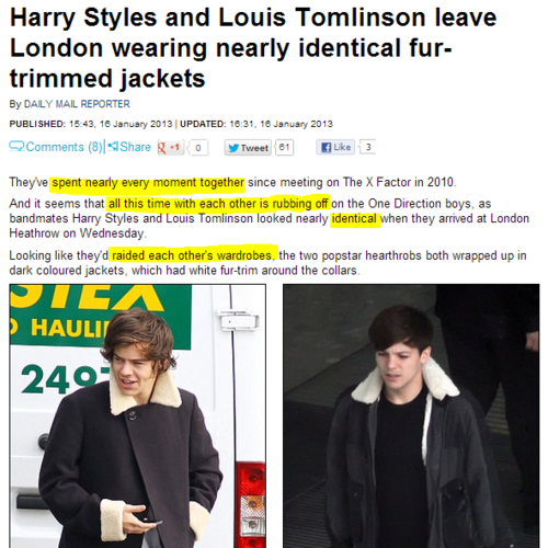 Article anglais sur Larry ( 16/01/2013 ) via facebook : Larry Shipper