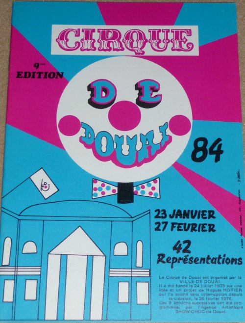 A vendre / On sale / Zu verkaufen / En venta / для продажи : Programme 9ème Cirque de Douai 1984