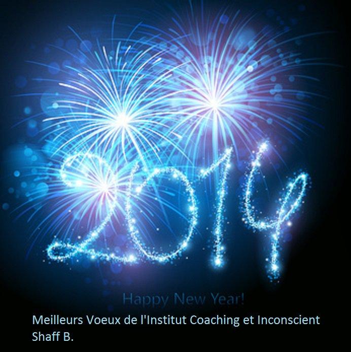 L'Institut Coaching et Inconscient Vous souhaite une merveilleuse année 2014