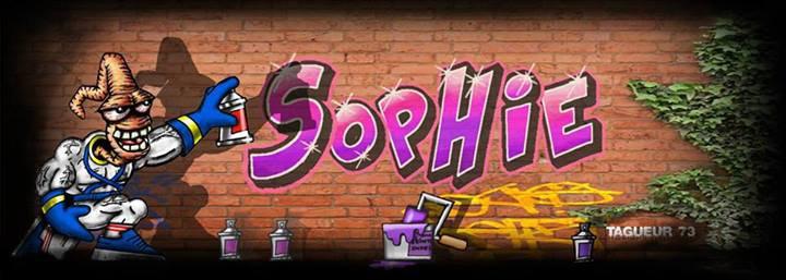 Tag Graffiti prénom Sophie