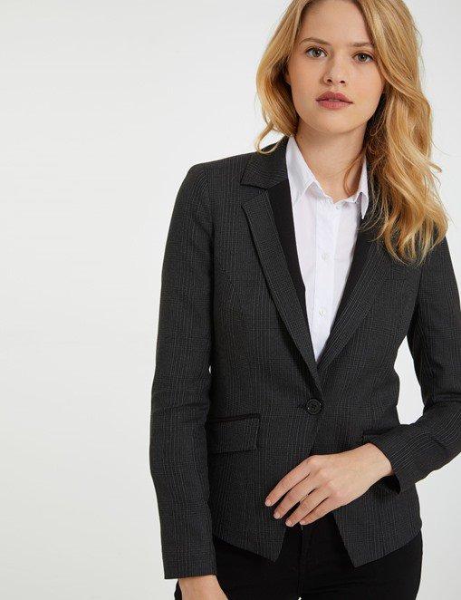 Veste motif façon tartan Morgan - Veste Morgan - Bon-Shopping.com