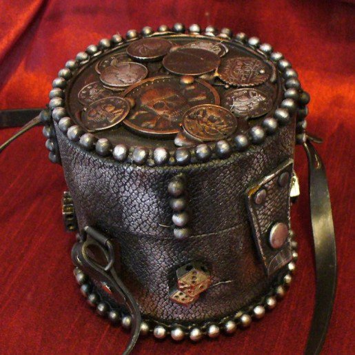 Steampunk Pirate's Chest Clutch Purse Comes Pre-Loaded With Booty