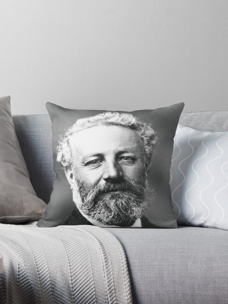 Coussin Jules Verne