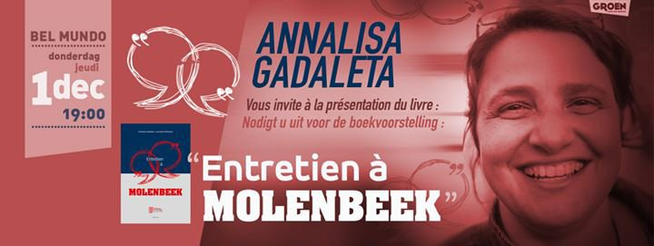 Présentation du livre d'Annalisa Gadaleta : Entretien à Molenbeek
