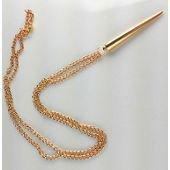 Collier chaîne or/argent, forme pique, femme, ajustable sur PriceMinister