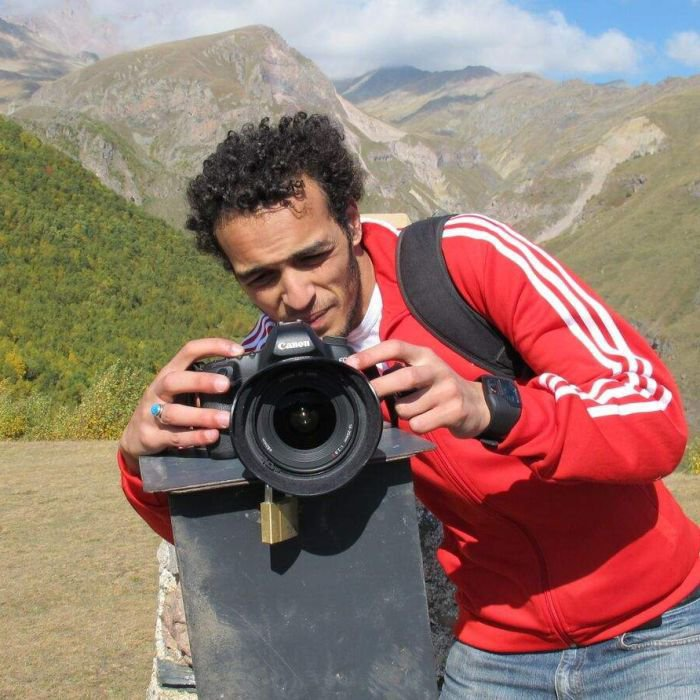 Young Egyptian journalist Shawkan in jail for two years without charge after photographing Muslim Brotherhood demonstrations - ABC News (Australian Broadcasting Corporation)