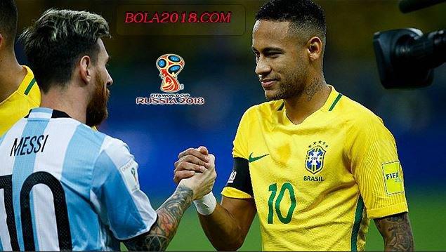 Neymar Bahagia Lionel Messi Lolos Piala Dunia 2018 - Piala Dunia 2018