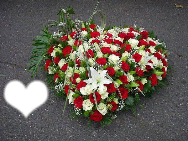 Montage photo couronne de fleur deuil - Pixiz